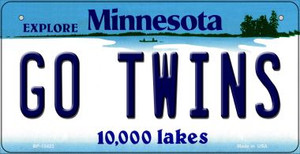 Go Twins Wholesale Novelty Metal Bicycle Plate BP-13423