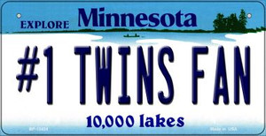 Number 1 Twins Fan Wholesale Novelty Metal Bicycle Plate BP-13424