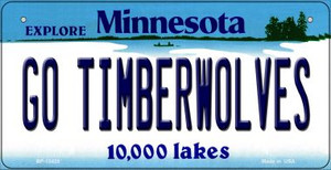 Go Timberwolves Wholesale Novelty Metal Bicycle Plate BP-13425