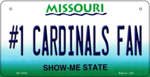 Number 1 Cardinals Fan Wholesale Novelty Metal Bicycle Plate BP-13434