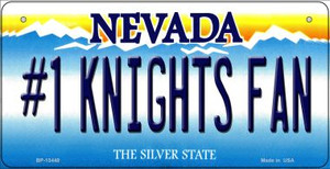 Number 1 Golden Knights Fan Wholesale Novelty Metal Bicycle Plate BP-13440