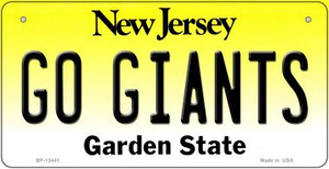 Go Giants Wholesale Novelty Metal Bicycle Plate BP-13441