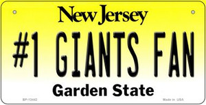Number 1 Giants Fan Wholesale Novelty Metal Bicycle Plate BP-13442