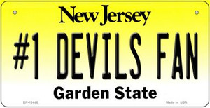 Number 1 Devils Fan Wholesale Novelty Metal Bicycle Plate BP-13446