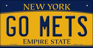 Go Mets Wholesale Novelty Metal Bicycle Plate BP-13453