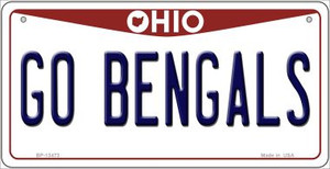 Go Bengals Wholesale Novelty Metal Bicycle Plate BP-13473