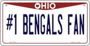 Number 1 Bengals Fan Wholesale Novelty Metal Bicycle Plate BP-13474