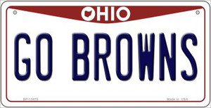 Go Browns Wholesale Novelty Metal Bicycle Plate BP-13475