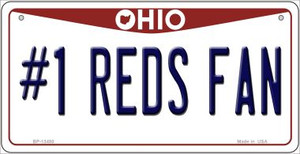 Number 1 Reds Fan Wholesale Novelty Metal Bicycle Plate BP-13480