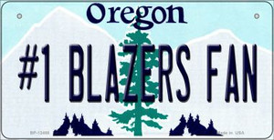 Number 1 Blazers Fan Wholesale Novelty Metal Bicycle Plate BP-13488