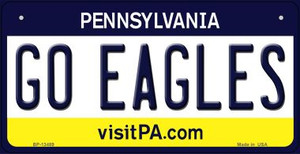 Go Eagles Wholesale Novelty Metal Bicycle Plate BP-13489
