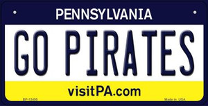 Go Pirates Wholesale Novelty Metal Bicycle Plate BP-13495