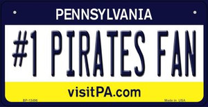 Number 1 Pirates Fan Wholesale Novelty Metal Bicycle Plate BP-13496