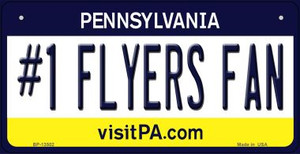 Number 1 Flyers Fan Wholesale Novelty Metal Bicycle Plate BP-13502