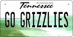Go Grizzlies Wholesale Novelty Metal Bicycle Plate BP-13505
