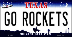 Go Rockets Wholesale Novelty Metal Bicycle Plate BP-13517