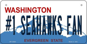 Number 1 Seahawks Fan Wholesale Novelty Metal Bicycle Plate BP-13526