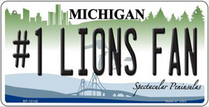 Number 1 Lions Fan Wholesale Novelty Metal Bicycle Plate BP-13145