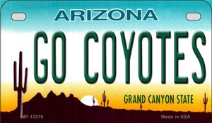 Go Coyotes Wholesale Novelty Metal Motorcycle Plate MP-13319