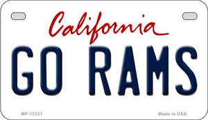 Go Rams Wholesale Novelty Metal Motorcycle Plate MP-13321