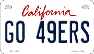 Go 49ers Wholesale Novelty Metal Motorcycle Plate MP-13327