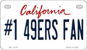 Number 1 49ers Fan Wholesale Novelty Metal Motorcycle Plate MP-13328