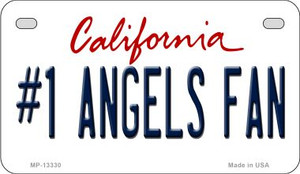 Number 1 Angels Fan Wholesale Novelty Metal Motorcycle Plate MP-13330