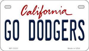 Go Dodgers Wholesale Novelty Metal Motorcycle Plate MP-13331