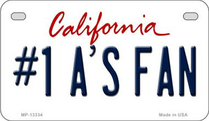 Number 1 Athletics Fan Wholesale Novelty Metal Motorcycle Plate MP-13334
