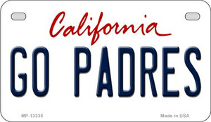 Go Padres Wholesale Novelty Metal Motorcycle Plate MP-13335