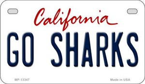Go Sharks Wholesale Novelty Metal Motorcycle Plate MP-13347