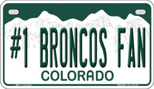 Number 1 Broncos Fan Wholesale Novelty Metal Motorcycle Plate MP-13354