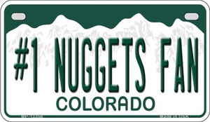 Number 1 Nuggets Fan Wholesale Novelty Metal Motorcycle Plate MP-13358