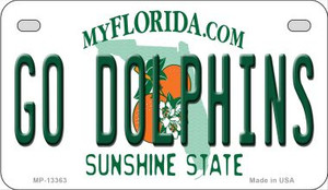 Go Dolphins Wholesale Novelty Metal Motorcycle Plate MP-13363