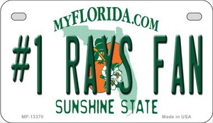 Number 1 Rays Fan Wholesale Novelty Metal Motorcycle Plate MP-13370
