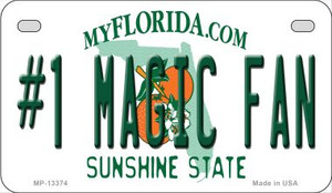 Number 1 Magic Fan Wholesale Novelty Metal Motorcycle Plate MP-13374