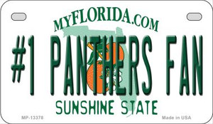 Number 1 Panthers Fan Wholesale Novelty Metal Motorcycle Plate MP-13378