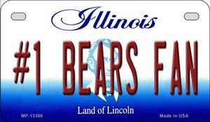 Number 1 Bears Fan Wholesale Novelty Metal Motorcycle Plate MP-13386