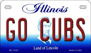 Go Cubs Wholesale Novelty Metal Motorcycle Plate MP-13387