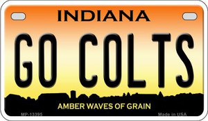 Go Colts Wholesale Novelty Metal Motorcycle Plate MP-13395