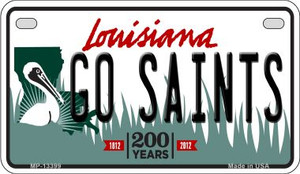 Go Saints Wholesale Novelty Metal Motorcycle Plate MP-13399