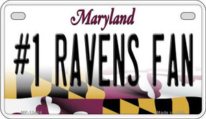 Number 1 Ravens Fan Wholesale Novelty Metal Motorcycle Plate MP-13404
