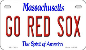 Go Red Sox Wholesale Novelty Metal Motorcycle Plate MP-13409