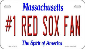 Number 1 Red Sox Fan Wholesale Novelty Metal Motorcycle Plate MP-13410