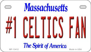 Number 1 Celtics Fan Wholesale Novelty Metal Motorcycle Plate MP-13412