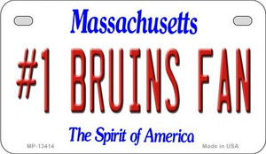 Number 1 Bruins Fan Wholesale Novelty Metal Motorcycle Plate MP-13414