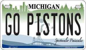 Go Pistons Wholesale Novelty Metal Motorcycle Plate MP-134117