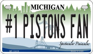 Number 1 Pistons Fan Wholesale Novelty Metal Motorcycle Plate MP-13418