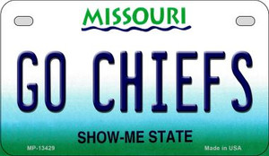 Go Chiefs Wholesale Novelty Metal Motorcycle Plate MP-13429