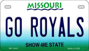 Go Royals Wholesale Novelty Metal Motorcycle Plate MP-13431